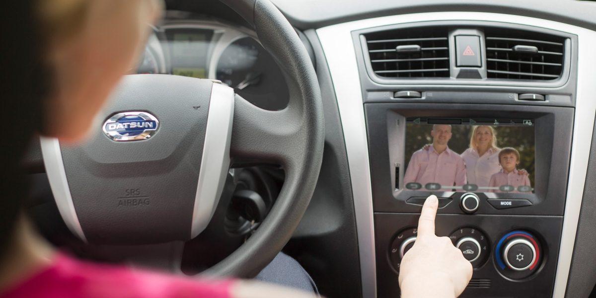 Мультимедийная система автомобиля Datsun.