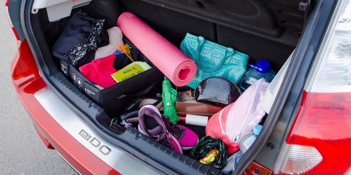 Женский багажник автомобиля Datsun.