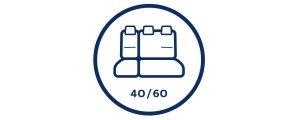 Раскладывающиеся  сидения: 60 / 40