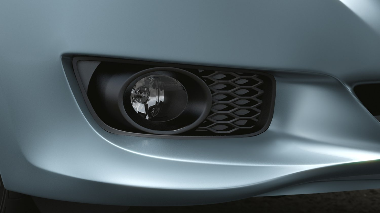 3/4 Close Up of Halogen Fog Light