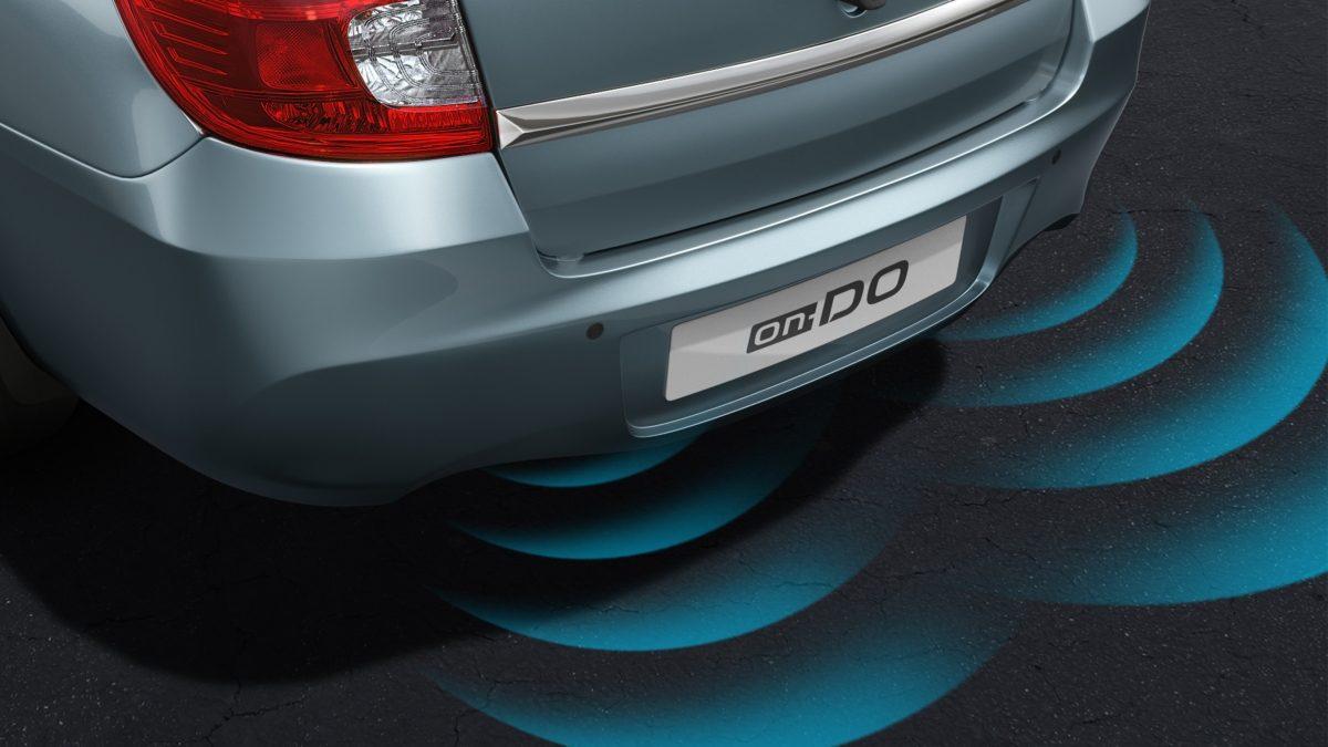 3/4 Rear Shot with Parking Sensor Illustrations