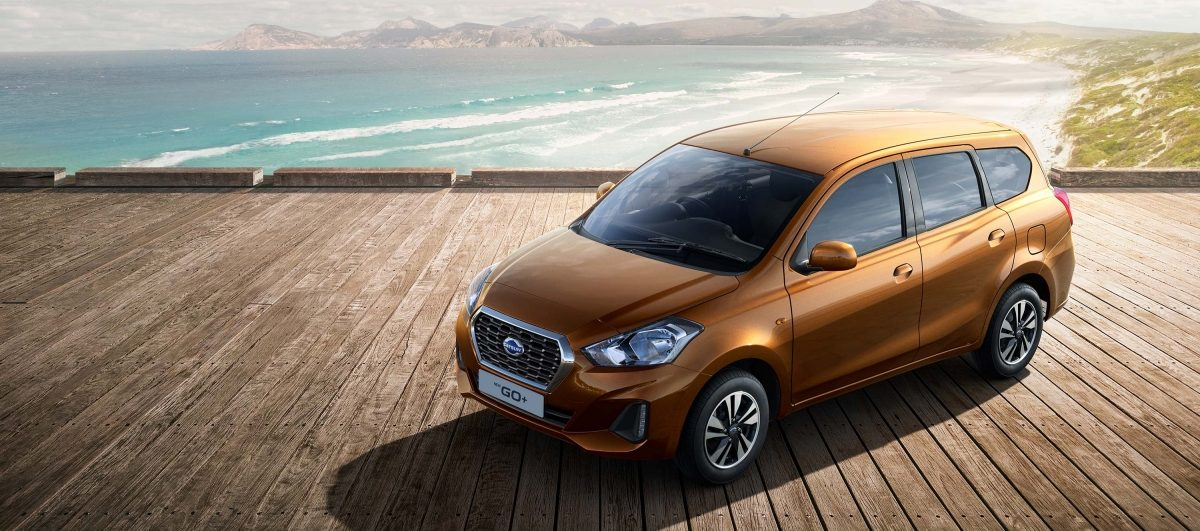 Datsun GO+by the beach
