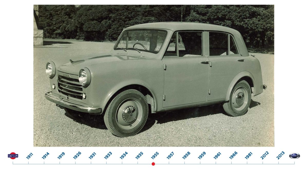 The Datsun 110 – the first all new passenger car produced since the end of the war