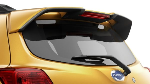 Datsun Cross spoiler and rear window with wiper