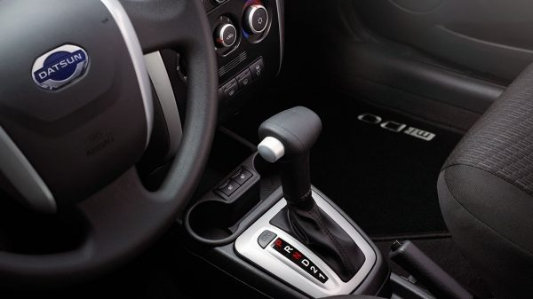 Interior Shot of Steering Wheel and AT Shifter
