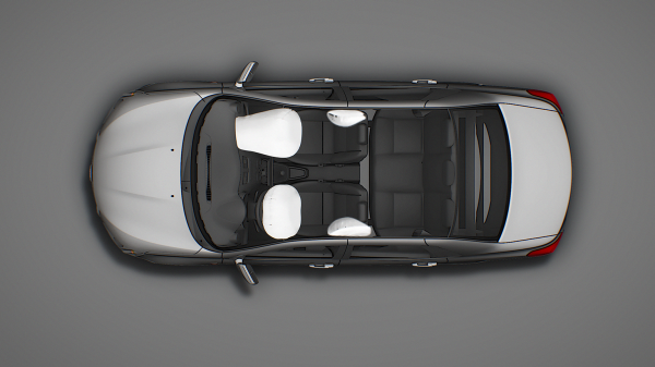 Overhead Shot with Front and Side Airbags Depoloyed