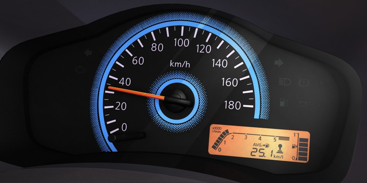 Datsun redi-go interior digital speedometer, drive computer and shift indicator