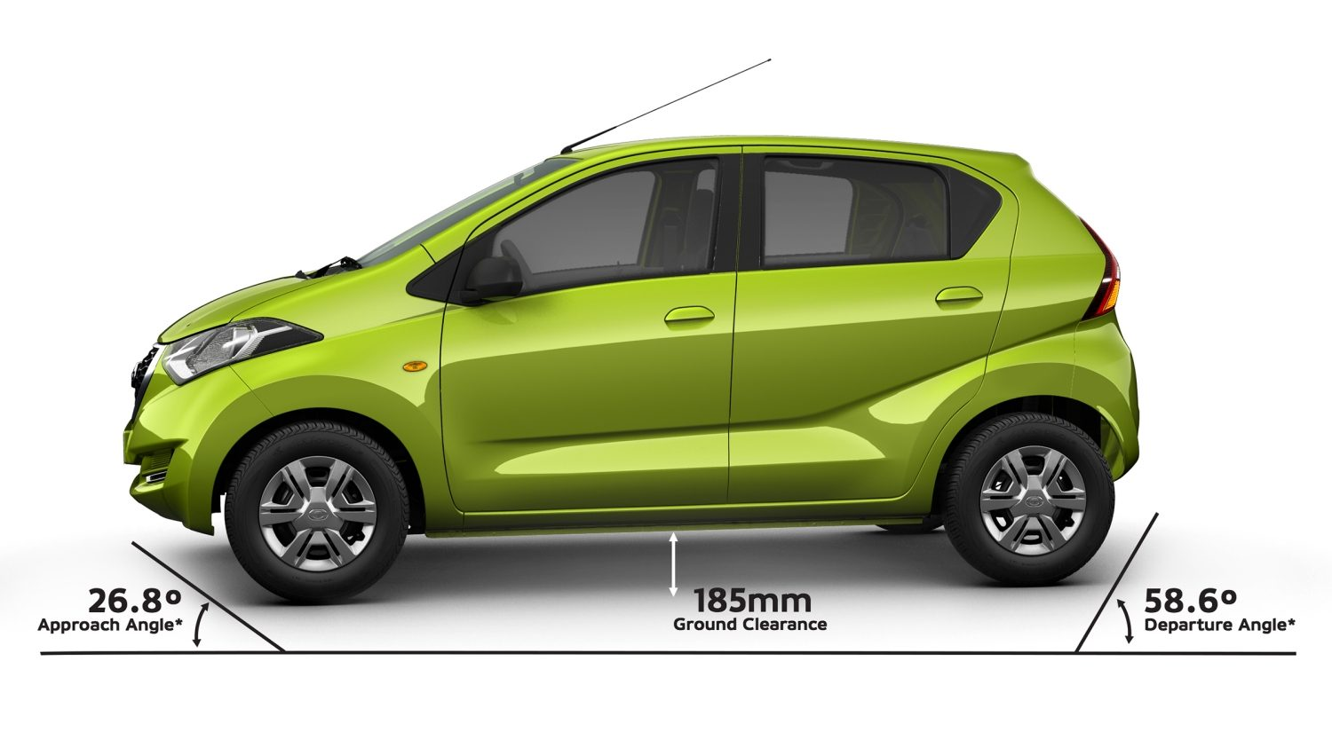 Datsun Redi Go Performance Fuel Economy 2011 Smart Car Wiring Diagram Exterior Profile High Ground Clearance